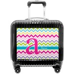 Colorful Chevron Pilot / Flight Suitcase (Personalized)