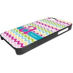 Colorful Chevron Plastic iPhone 5/5S Phone Case (Personalized)