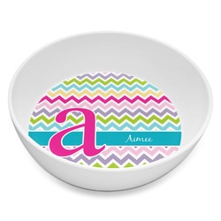 Colorful Chevron Melamine Bowl - 8 oz (Personalized)