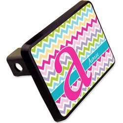"Colorful Chevron Rectangular Trailer Hitch Cover - 2"" (Personalized)"