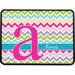 """Colorful Chevron Rectangular Trailer Hitch Cover - 1.25"""" (Personalized)"""