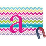 Colorful Chevron Rectangular Fridge Magnet (Personalized)