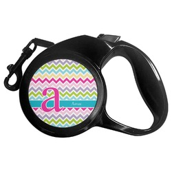 Colorful Chevron Retractable Dog Leash - Multiple Sizes (Personalized)