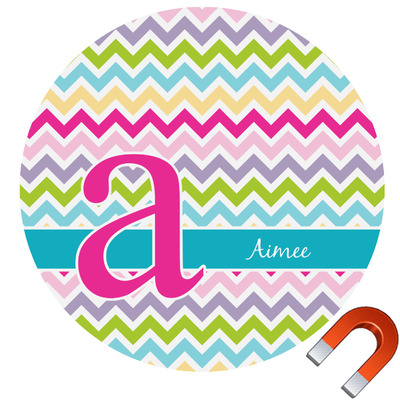 Colorful Chevron Car Magnet (Personalized)