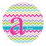 Colorful Chevron Round Decal (Personalized)