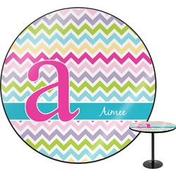 Colorful Chevron Round Table (Personalized)