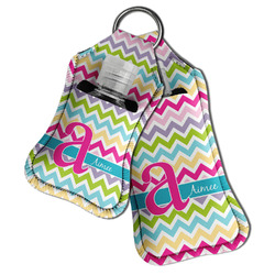 Colorful Chevron Hand Sanitizer & Keychain Holder (Personalized)