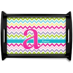 Colorful Chevron Wooden Trays (Personalized)