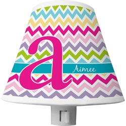Colorful Chevron Shade Night Light (Personalized)