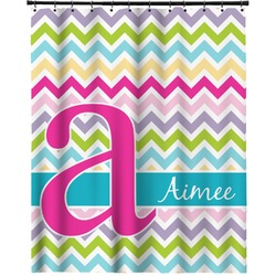 """Colorful Chevron Extra Long Shower Curtain - 70""""x84"""" (Personalized)"""