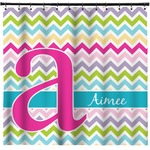 Colorful Chevron Shower Curtain (Personalized)