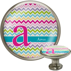 Colorful Chevron Cabinet Knobs (Personalized)