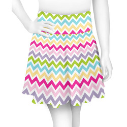 Colorful Chevron Skater Skirt (Personalized)