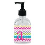 Colorful Chevron Soap/Lotion Dispenser (Glass) (Personalized)
