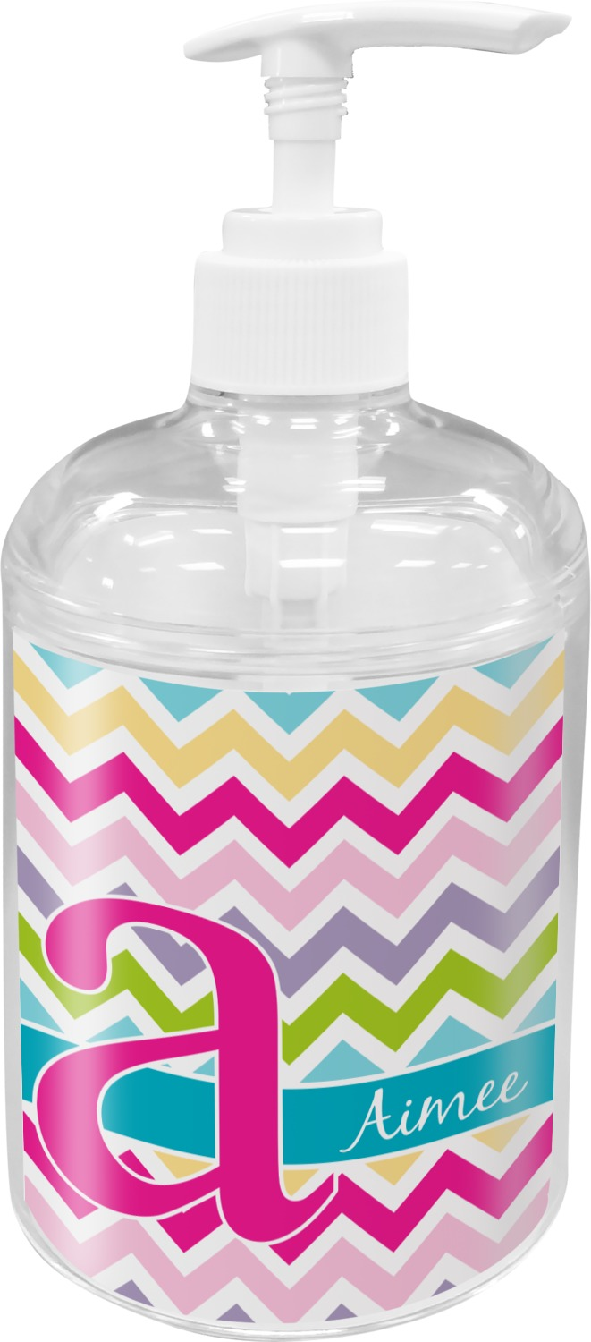 Colorful chevron bathroom accessories set personalized you customize it for Colourful bathroom accessories