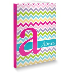 Colorful Chevron Softbound Notebook (Personalized)