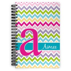 Colorful Chevron Spiral Bound Notebook - 7x10 (Personalized)