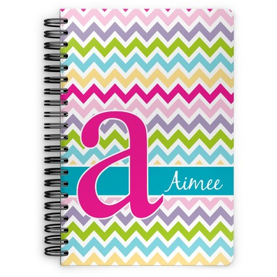 Colorful Chevron Spiral Bound Notebook (Personalized)