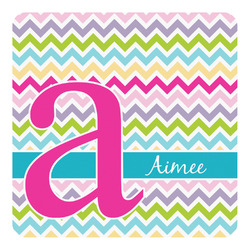 Colorful Chevron Square Decal - Medium (Personalized)