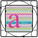 Colorful Chevron Square Trivet (Personalized)