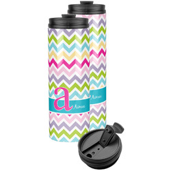 Colorful Chevron Stainless Steel Skinny Tumbler (Personalized)