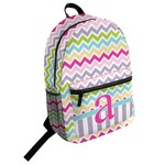 Colorful Chevron Student Backpack (Personalized)