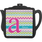 Colorful Chevron Teapot Trivet (Personalized)