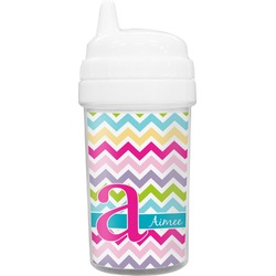 Colorful Chevron Toddler Sippy Cup (Personalized)