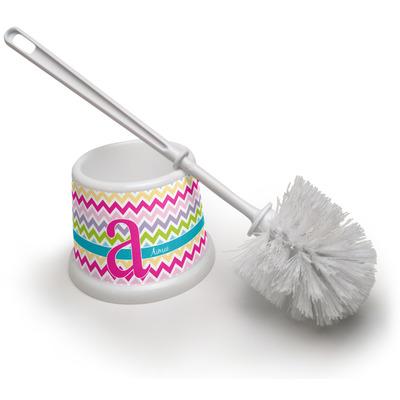 Colorful Chevron Toilet Brush (Personalized)