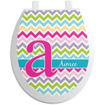 Colorful Chevron Toilet Seat Decal (Personalized)