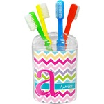 Colorful Chevron Toothbrush Holder (Personalized)