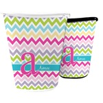 Colorful Chevron Waste Basket (Personalized)