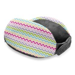 Colorful Chevron Travel Neck Pillow (Personalized)