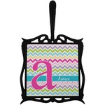 Colorful Chevron Trivet with Handle (Personalized)