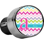 Colorful Chevron USB Car Charger (Personalized)