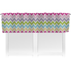 Colorful Chevron Valance (Personalized)