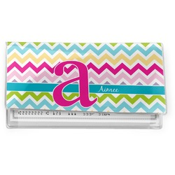 Colorful Chevron Vinyl Checkbook Cover (Personalized)