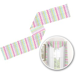 Colorful Chevron Window Sheer Scarf Valance (Personalized)