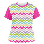 Colorful Chevron Women's Crew T-Shirt (Personalized)