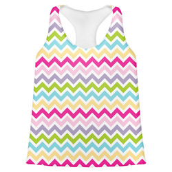Colorful Chevron Womens Racerback Tank Top (Personalized)