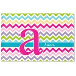 Colorful Chevron Woven Mat (Personalized)