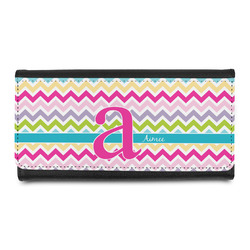 Colorful Chevron Leatherette Ladies Wallet (Personalized)