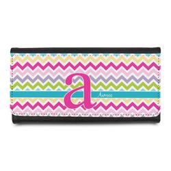 Colorful Chevron Leatherette Ladies Wallet (Personalized)