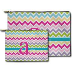 Colorful Chevron Zipper Pouch (Personalized)