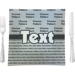 Custom - Block Square Dinner Plate (Personalized)