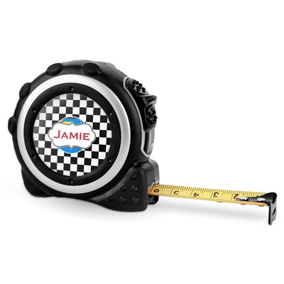 Checkers & Racecars Tape Measure - 16 Ft (Personalized)