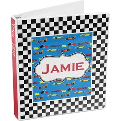 Checkers & Racecars 3-Ring Binder (Personalized)