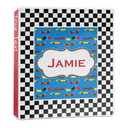 Checkers & Racecars 3-Ring Binder - 1 inch (Personalized)