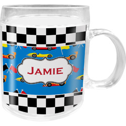 Checkers & Racecars Acrylic Kids Mug (Personalized)