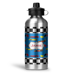 Checkers & Racecars Water Bottle - Aluminum - 20 oz (Personalized)